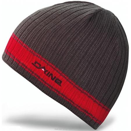 Шапка мужская DAKINE Ribbed Pinline charcoal /red